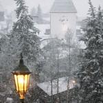 vail clock snow
